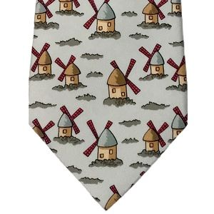 HERMÈS • Whimsical Windmills Classic Business Tie